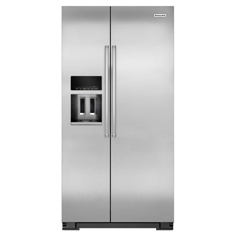 KitchenAid Professional Grade Side By Side Refrigerator   36 Inch  Counter Depth Stainless Steel | RC Willey Furniture Store