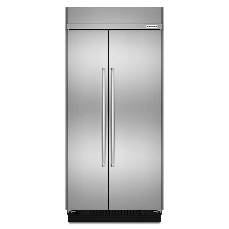 KitchenAid Built In Side By Side Refrigerator   42 Inch Stainless Steel    RC Willey Furniture Store