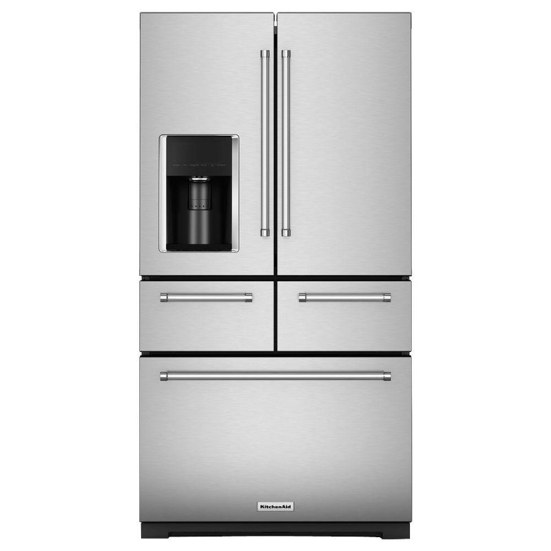 KitchenAid Multi Door Refrigerator   36 Inch Stainless Steel | RC Willey  Furniture Store
