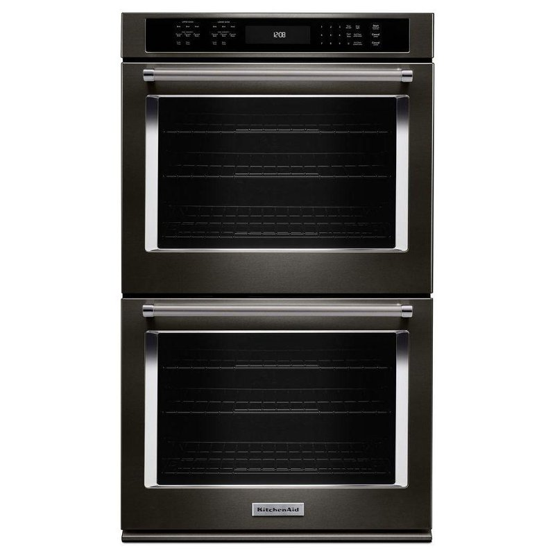 kitchenaid double wall oven 10 cu ft black stainless steel rc rh rcwilley com kitchenaid double oven ranges kitchenaid double oven kode500ess