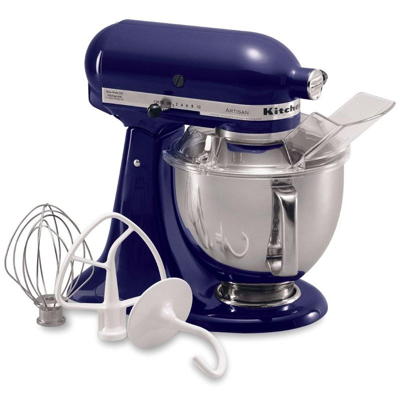 cobalt blue kitchenaid artisan series tilt head stand mixer