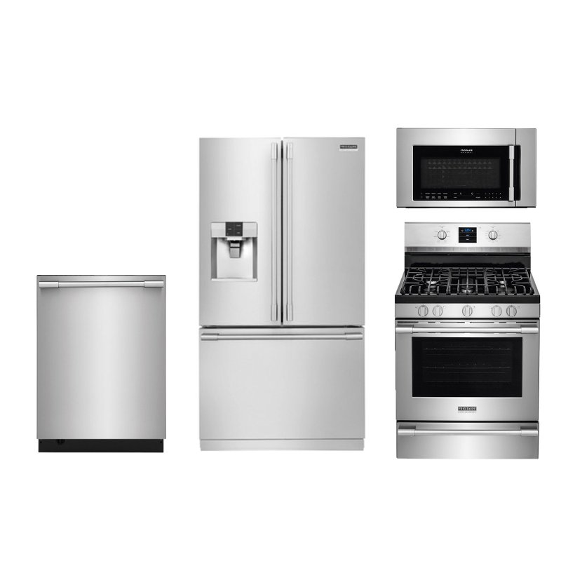 Frigidaire Kitchen Appliance Package with Gas Range - Stainless Steel