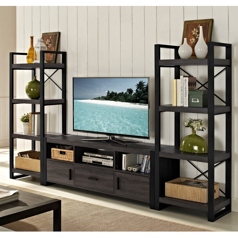 3 piece wall unit. Black Bedroom Furniture Sets. Home Design Ideas