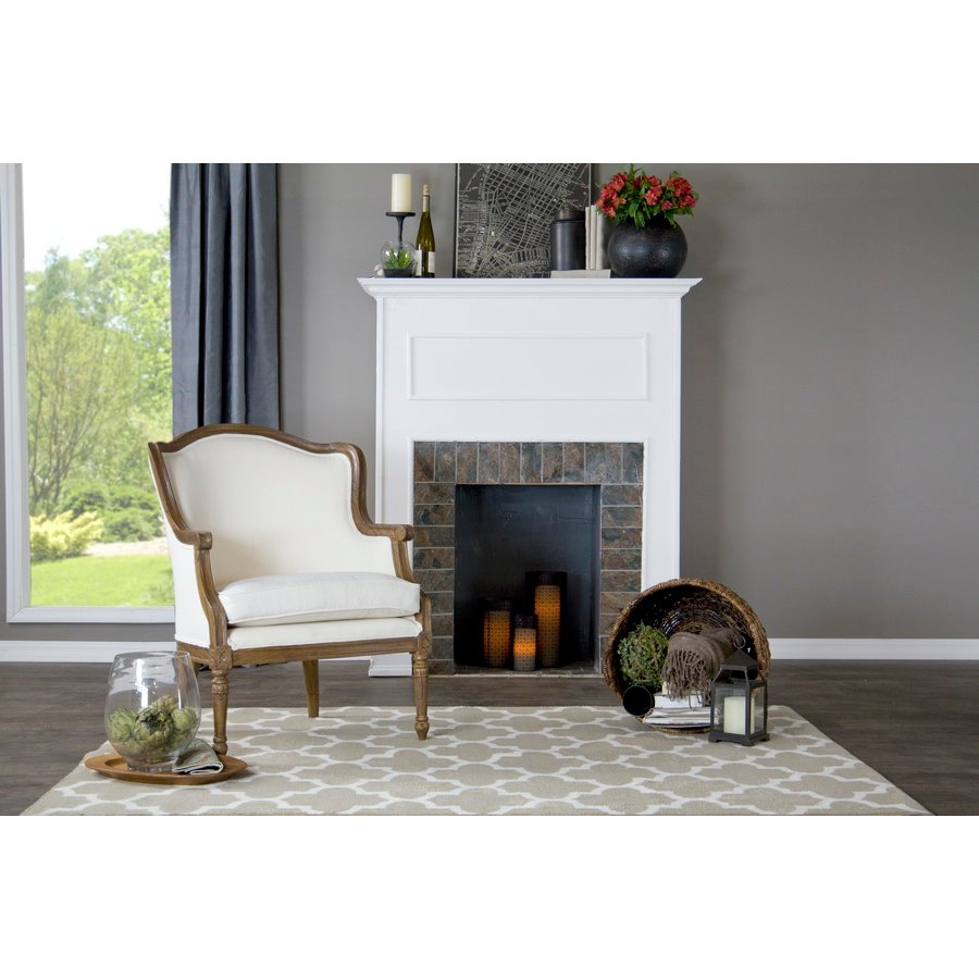 Awe Inspiring Traditional Off White Accent Chair Charlemagne Pabps2019 Chair Design Images Pabps2019Com