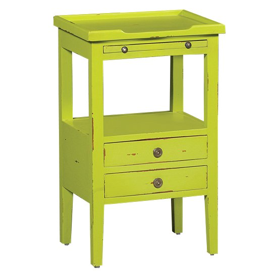 Groovy Green Distressed Accent Table   Aries