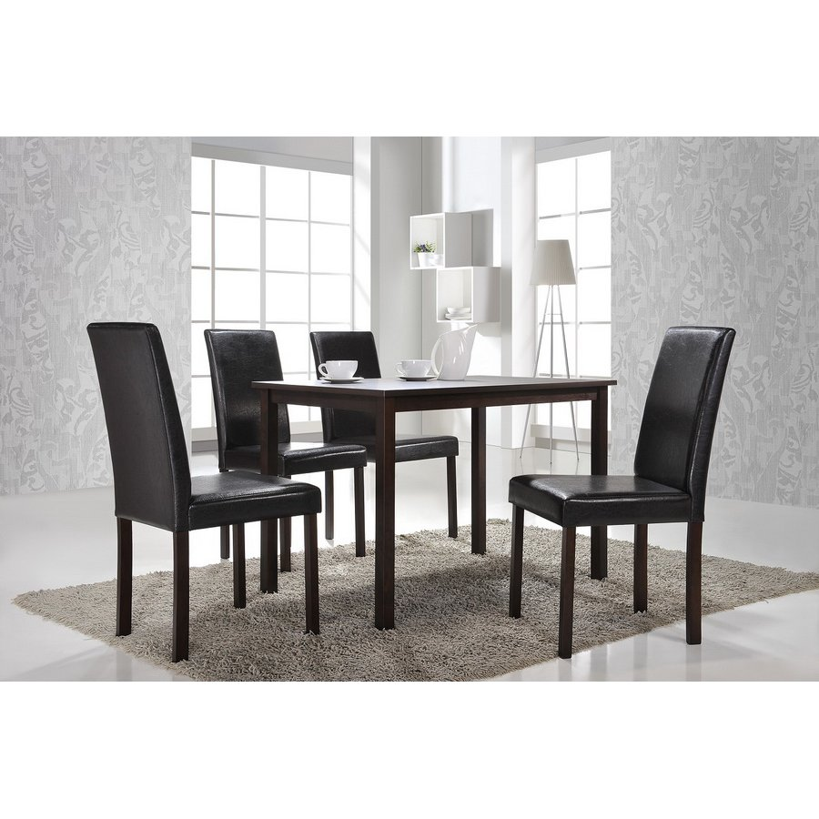 Set Of 4 Dark Brown Dining Chairs Andrew Rc Willey Furniture Store