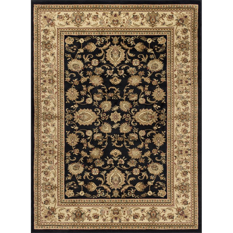 8 X 10 Large Black And Tan Area Rug Sensation Rc Willey