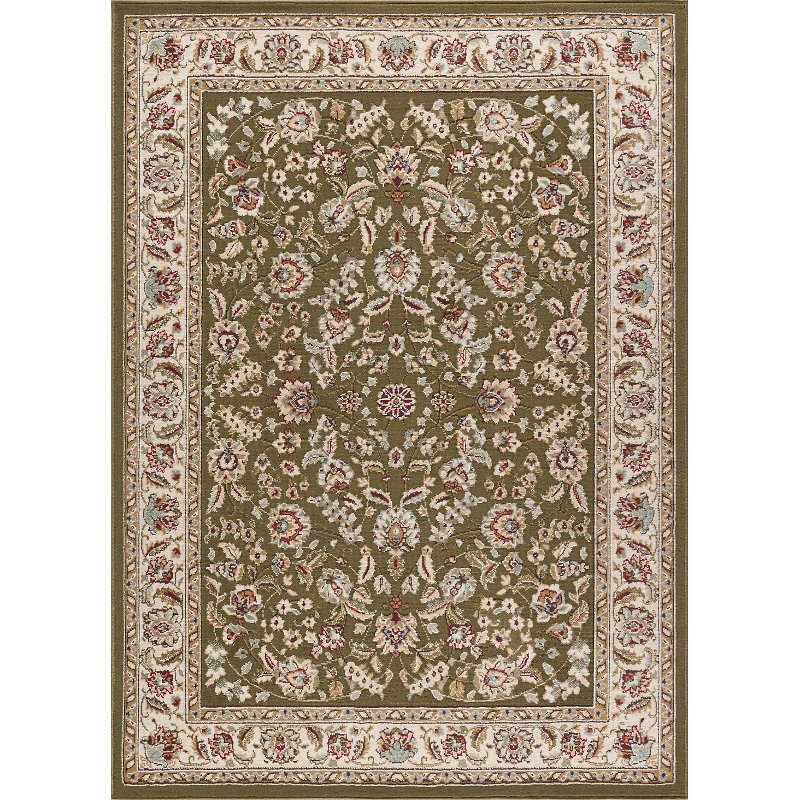Large Area Rugs Gold: 8 X 10 Large Green, Gold, And Ivory Area Rug - Laguna