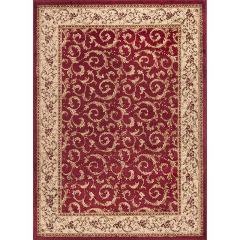 Ivory Gold And Red Area Rug