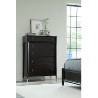 Vibe Charcoal 5-Drawer Chest of Drawers