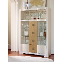 Tower Suite Pearl/Gold Bar Cabinet