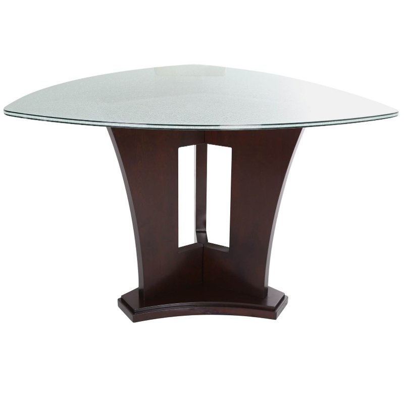Elegant Counter Height Dining Table   Soho Espresso And Glass Modern