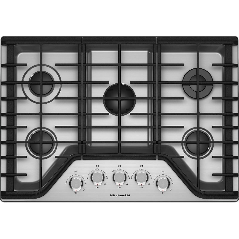 KitchenAid 30 Inch Gas Cooktop   Stainless Steel | RC Willey Furniture Store