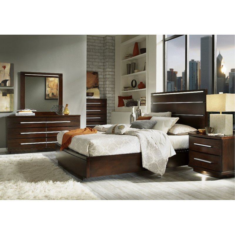 Marbella coffee brown 6 piece queen bedroom set - Espresso brown bedroom furniture ...