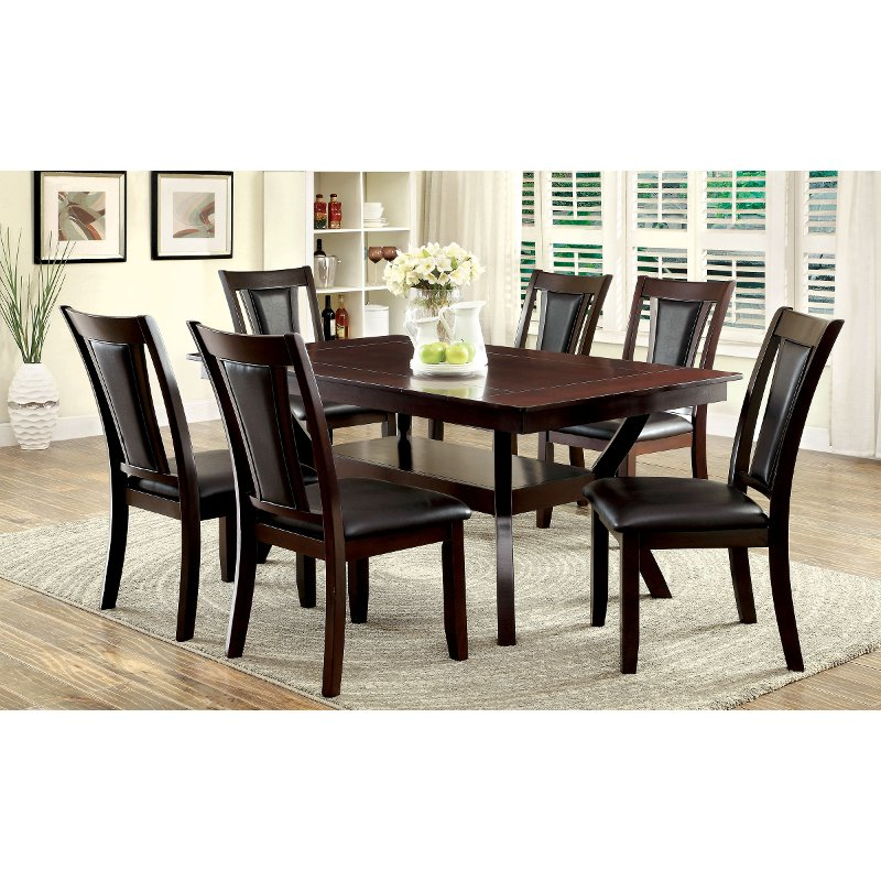 brent dark cherry 5 piece dining set
