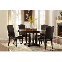 piece dining set modern traditional blossomwood black and brown