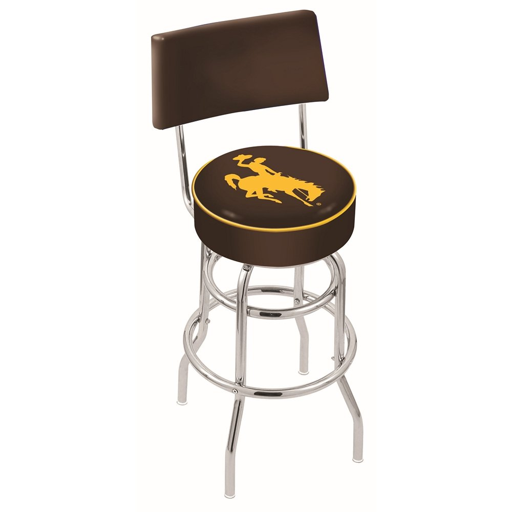 30 Inch Back Rest Bar Stool University Of Wyoming Rc Willey