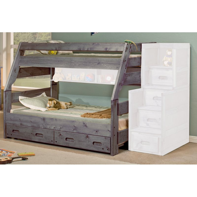 Fort Driftwood Rustic Twin-over-Full Bunk Bed | RC Willey Furniture ...