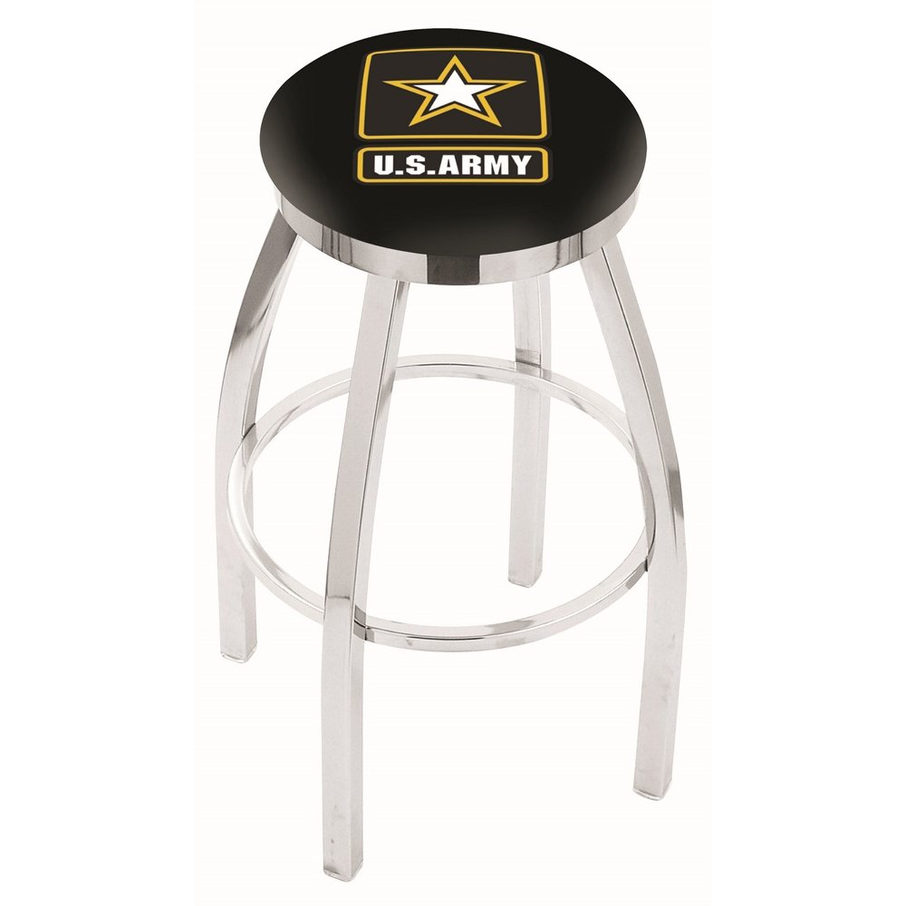 Chrome 25 Inch Counter Stool Us Army Rc Willey Furniture Store