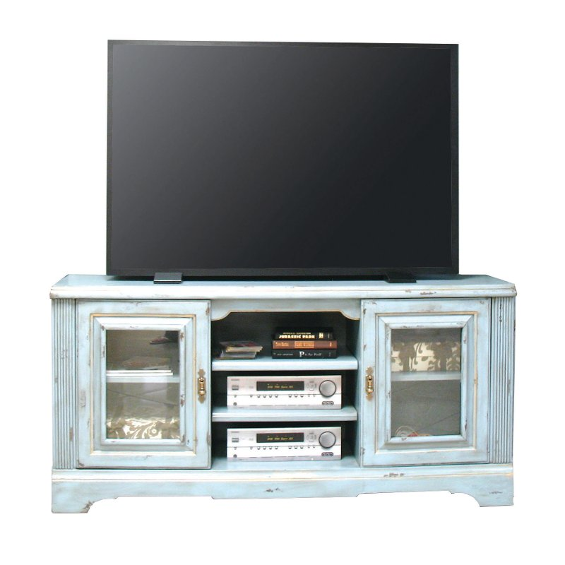 65 Inch Slate Blue Tv Stand Legacy Rc Willey Furniture