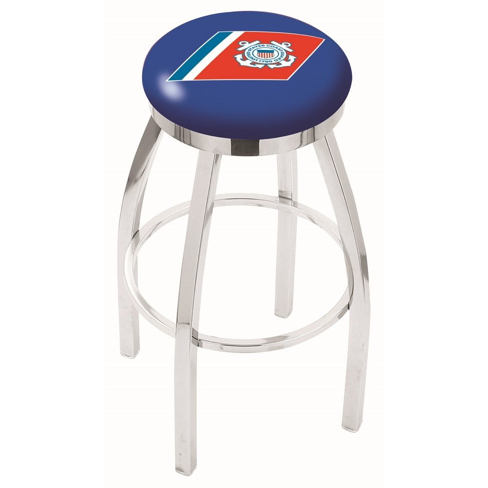 Chrome 25 Inch Counter Stool Us Coast Guard Rc Willey Furniture