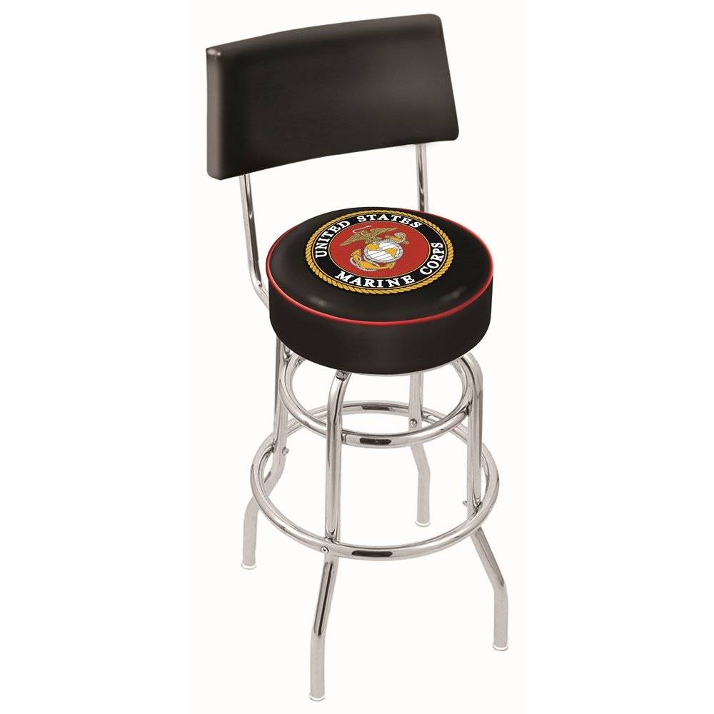 25 Inch Back Rest Counter Stool Us Marines Rc Willey Furniture Store