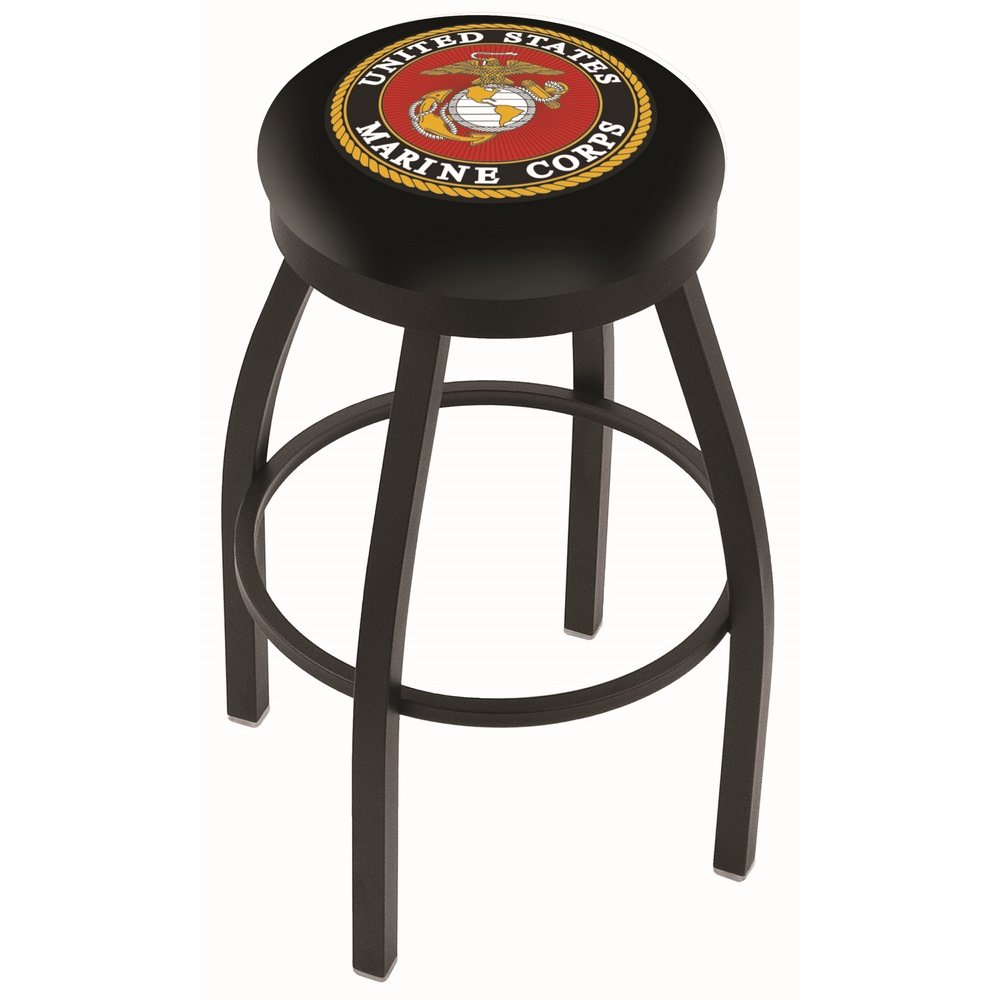 Black 25 Inch Counter Stool Us Marines Rc Willey Furniture Store