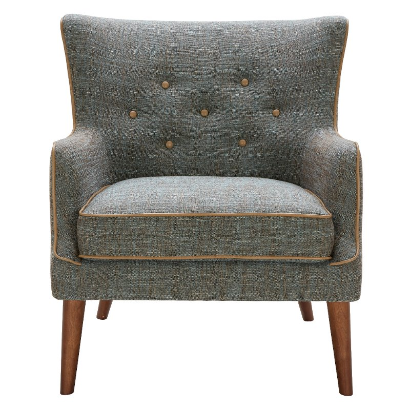 Teal And Brown Transitional Accent Chair   Avanti
