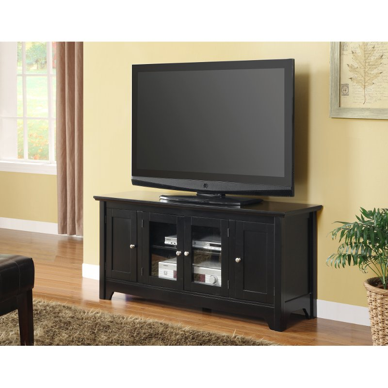 Black 52 Wood Tv Stand
