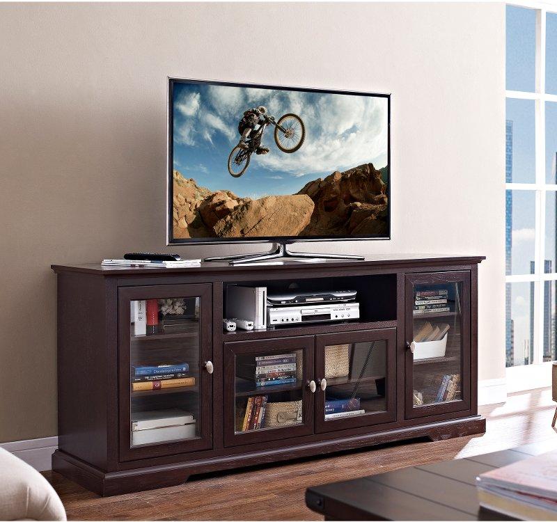 Espresso Tv Stand 70 Inch Rc Willey Furniture Store