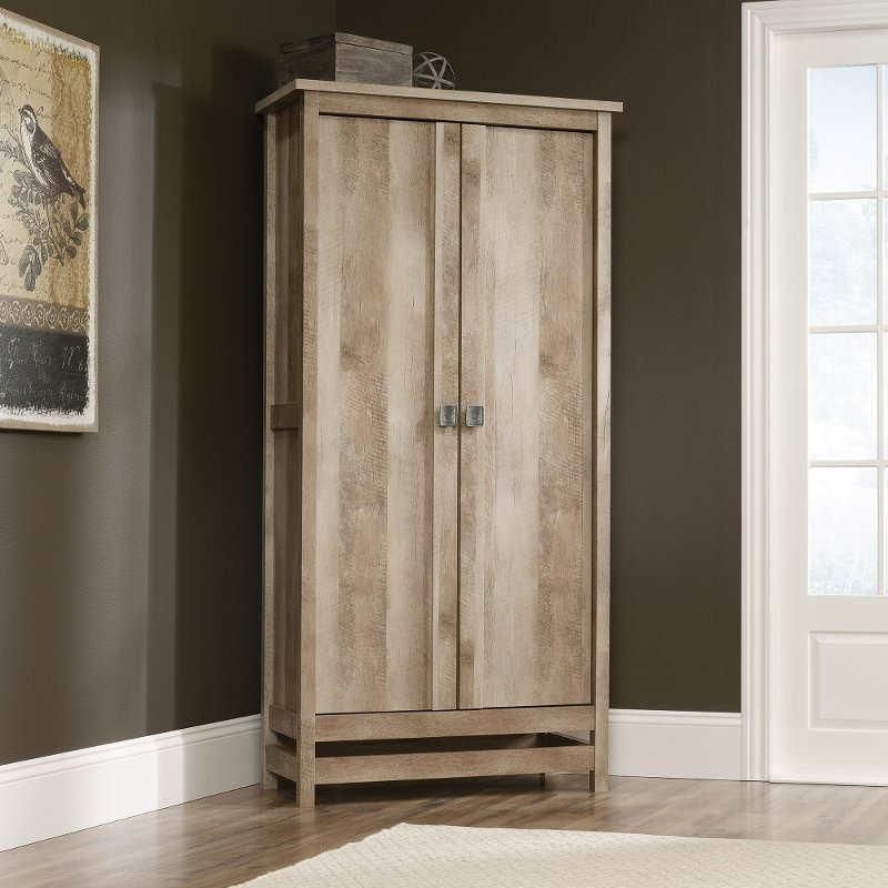 Rustic Oak Storage Cabinet Cannery, Rustic Storage Cabinets