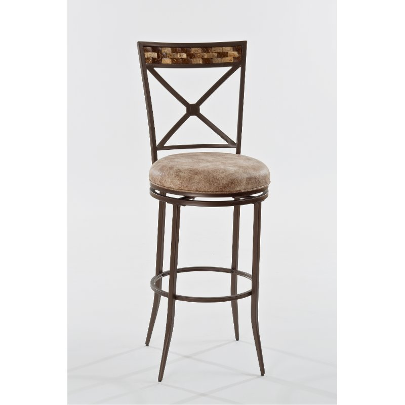 Wondrous Brown Swivel Counter Height Stool Compton Gmtry Best Dining Table And Chair Ideas Images Gmtryco