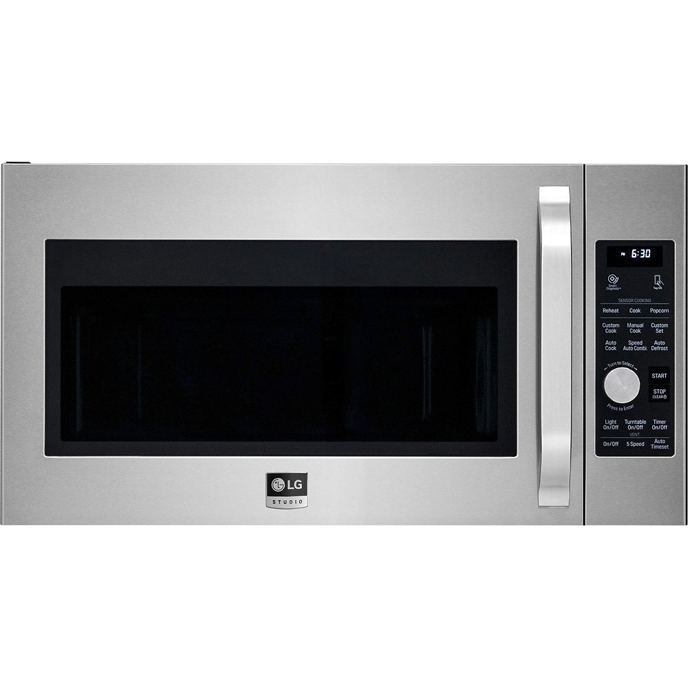 lg studio over the range microwave 1 7 cu ft stainless steel rh rcwilley com LG Microwave Parts LG Over the Range Microwave Installation