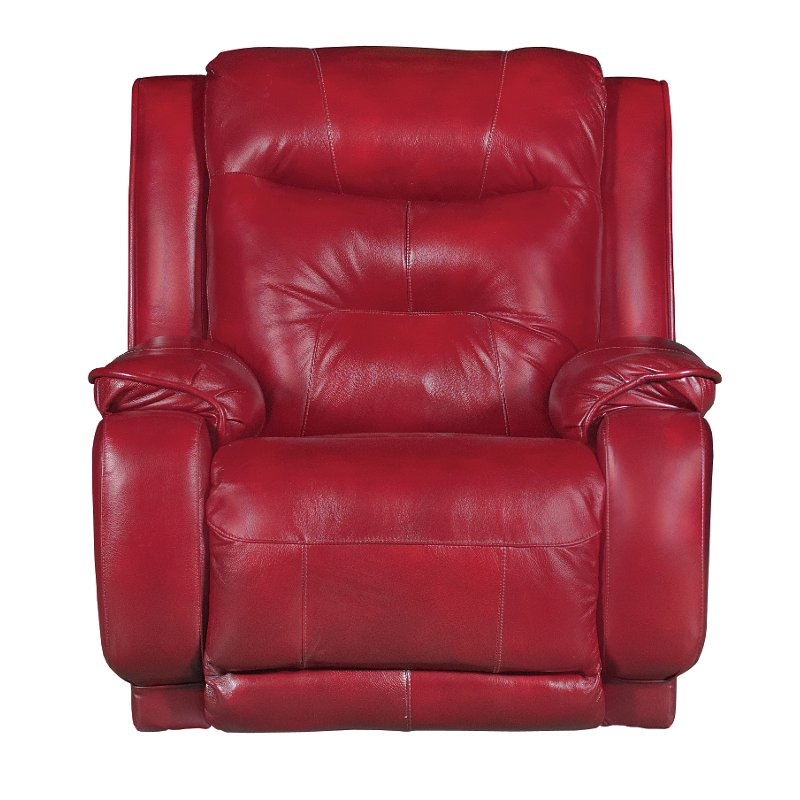 Marsala Red Leather Match Power Rocker Recliner Cresent Rc
