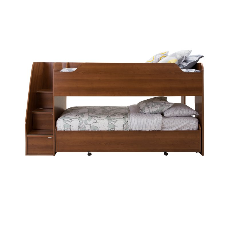 mobby morgan cherry twin loft bed with trundle. Black Bedroom Furniture Sets. Home Design Ideas