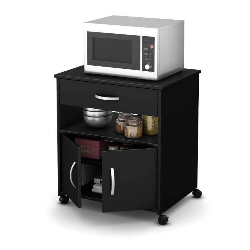 Black Microwave Cart Fiesta Rc Willey Furniture Store