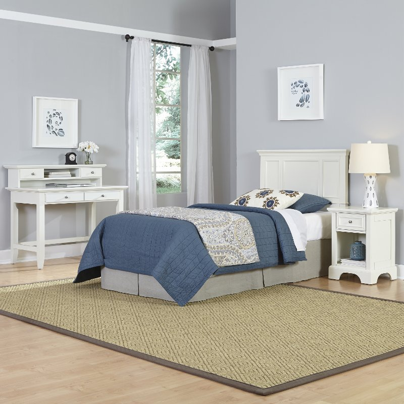 White Twin Headboard Nightstand Student Desk With Hutch Naples