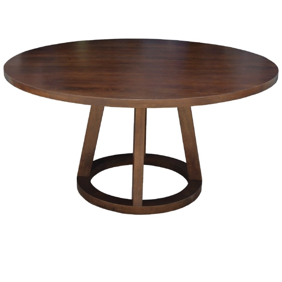 Mendocino Mango Wood Modern 84 Inch Round Dining Table
