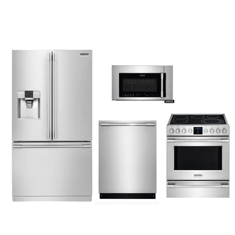 Frigidaire Kitchen Appliance Package with Electric Range - Smudge ...