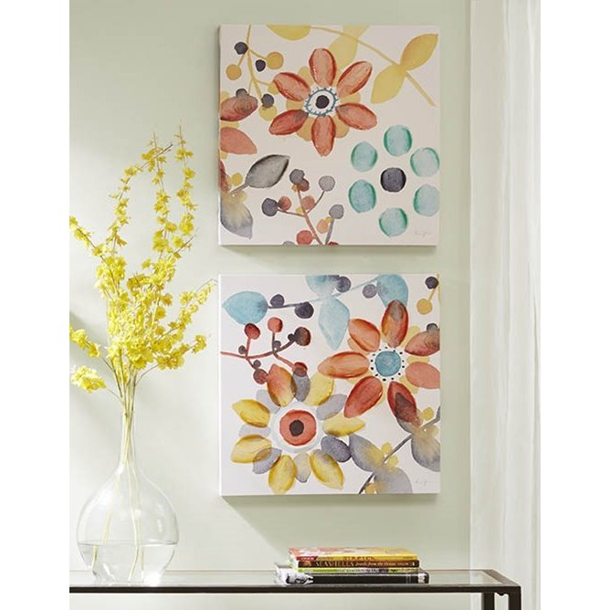 Assorted Multi Color Sweet Floral Canvas Wall Art  sc 1 st  RC Willey & Assorted Multi Color Sweet Floral Canvas Wall Art | RC Willey ...