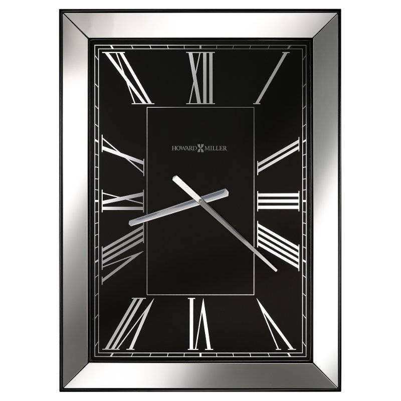 Rc Willey Draper: Black And Mirror Ceara Wall Clock