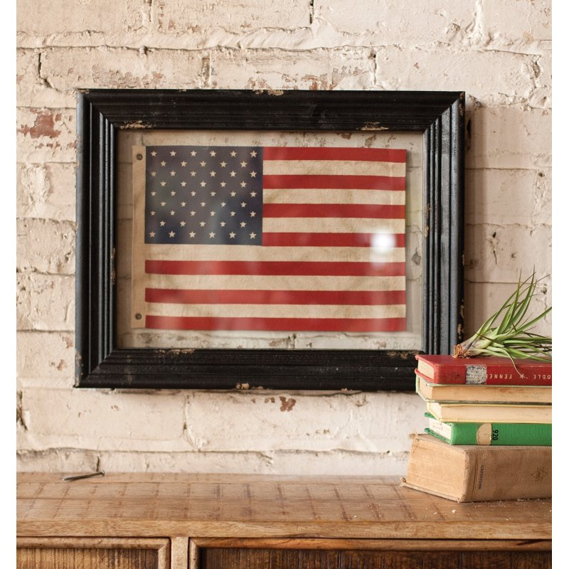 Rc Willey Boise Idaho: Small Framed American Flag