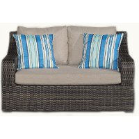 Tortola Woven Outdoor Patio Loveseat Rc Willey Furniture
