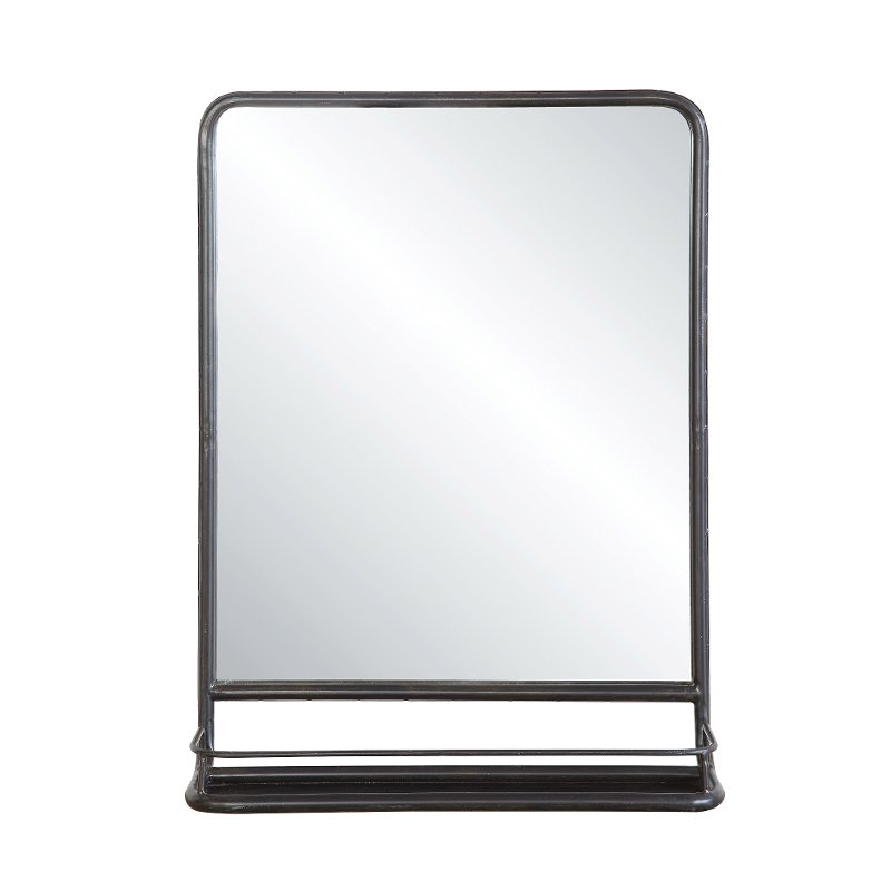 Metal Framed Mirror with Shelf | RC Willey Furniture Store