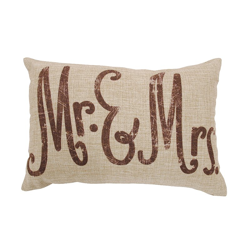 Linen Mr And Mrs Throw Pillow RC Willey Furniture Store Custom Mr And Mrs Decorative Pillows