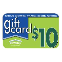RCWGIFT-10 RC Willey Gift Card - $10