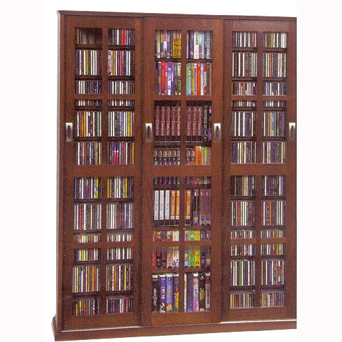 Walnut Cd Dvd 2 Piece Storage Cabinet With Sliding Doors Rc Willey