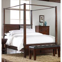 5200-CKCANOPYBED60 Crown Mark Cal-King Canopy Bed