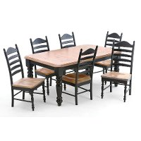 4296-5PC  Hillside Village  Black/Honey 5-Piece Dining Set
