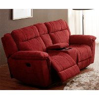 1751-22ACEC503PLV 80  Cranberry Microfiber Power Reclining Loveseat